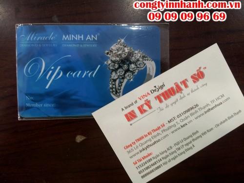 Thẻ VIP cho cửa hàng trang sức in ấn tại In Kỹ Thuật Số