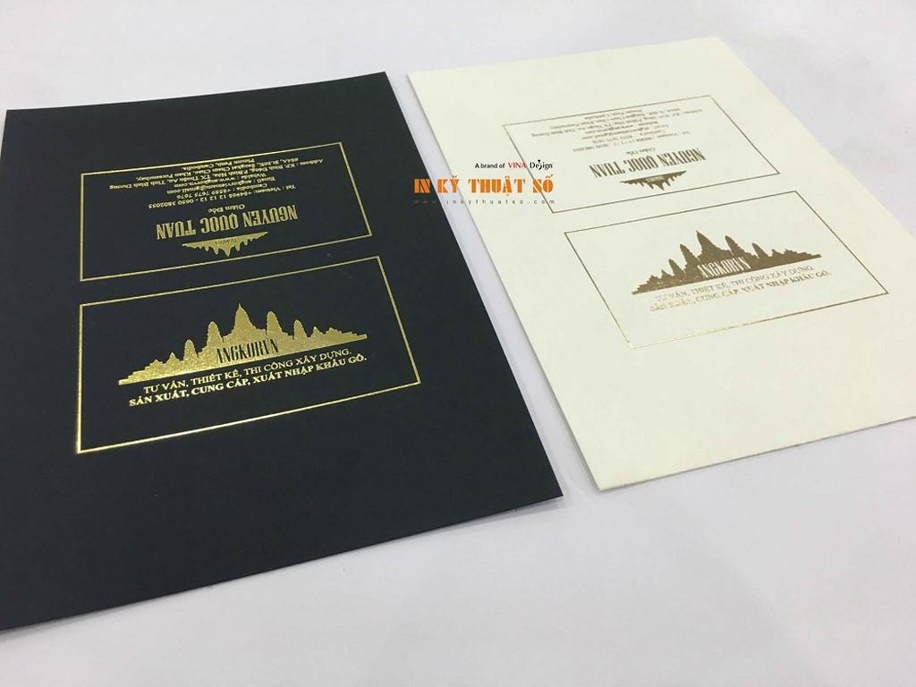 Mẫu in Name card thiết kế trên chất liệu giấy Art cao cấp cho chất lượng cao