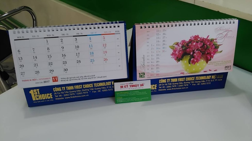 In lịch số lượng ít tặng bạn bè, anh chị nhân năm mới Đinh Dậu bằng công nghệ in nhanh kỹ thuật số tại Công ty In Nhanh